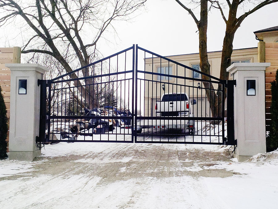 Contemporary Style Driveway Gate